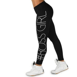 Women #Boss Girl fitness leggings