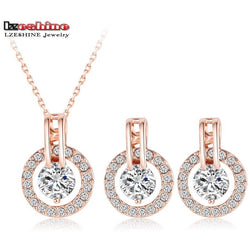 Rose Gold Necklace/Earring set