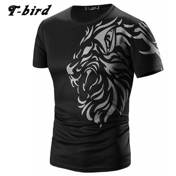 Tattoo Printing Casual Mens Tshirt