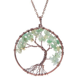 Tree Of Life Crystal Natural Stone Pendant