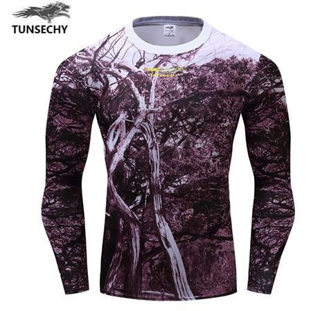 Brush long sleeve Compression T shirt