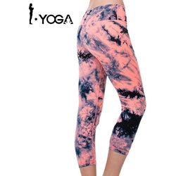 Womens Orange 3/4 Leggings