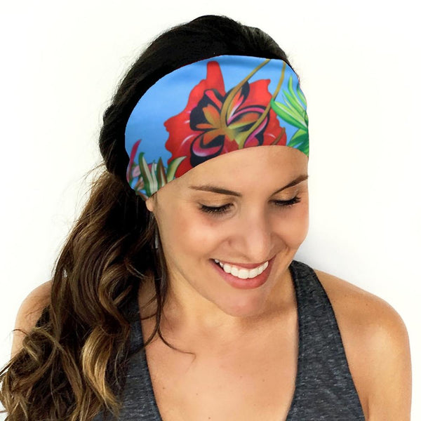 Tropical Cotton Stretch Women Headband