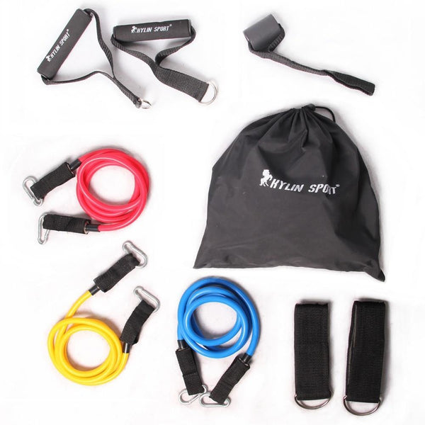 Resistance Exercise Training Bands 9 Pcs /set