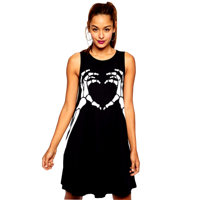 SKELETON HEART Dress
