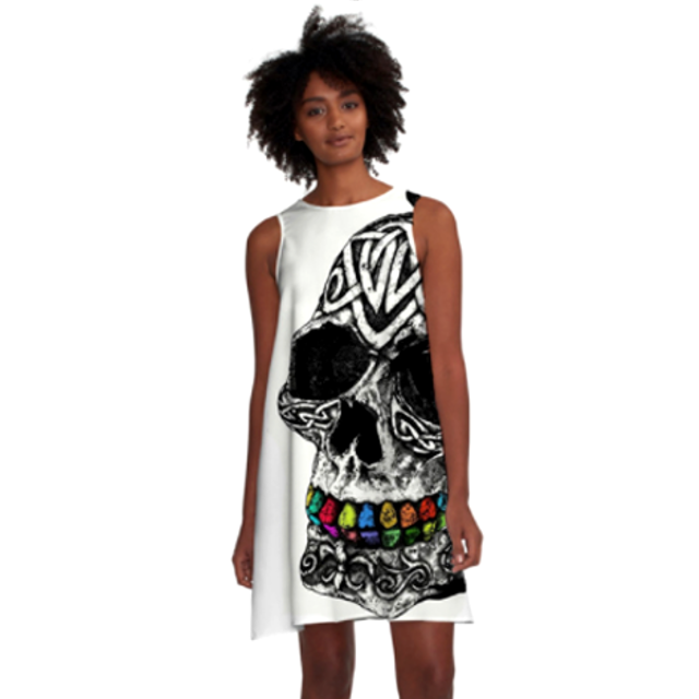 RETRO SKULL Loose Dress