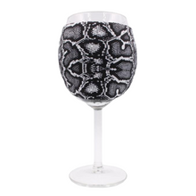 Load image into Gallery viewer, Snakeskin Wine Glass Sleeve