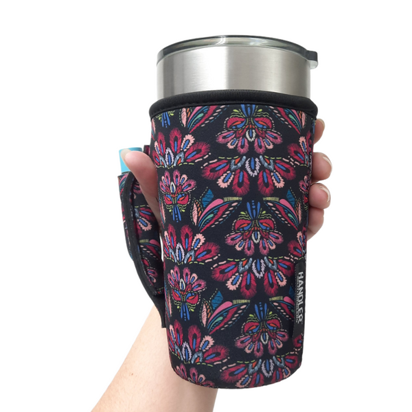 Pink Embroidery 20-27oz Venti / Large Tea / 27oz Shaker Bottle / 20oz Tumbler Handler™