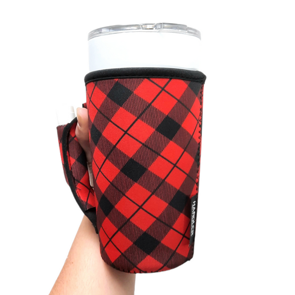 Red Plaid 20-27oz Venti / Large Tea / 27oz Shaker Bottle / 20oz Tumbler Handler™