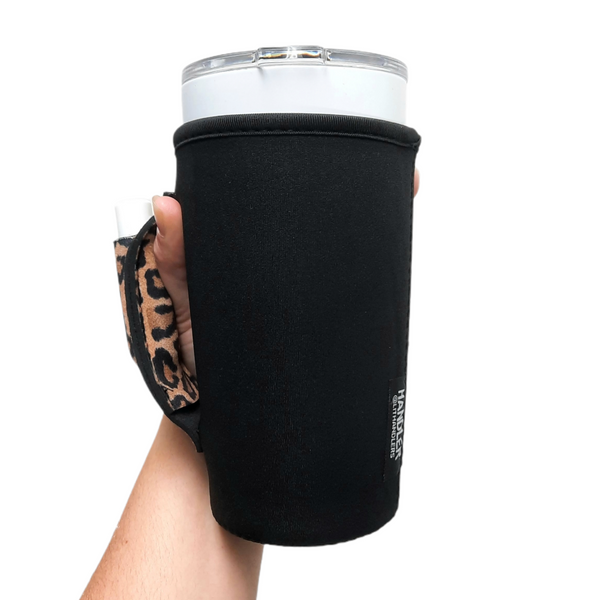Black w/ Leopard 20-27oz Venti / Large Tea / 27oz Shaker Bottle / 20oz Tumbler Handler™