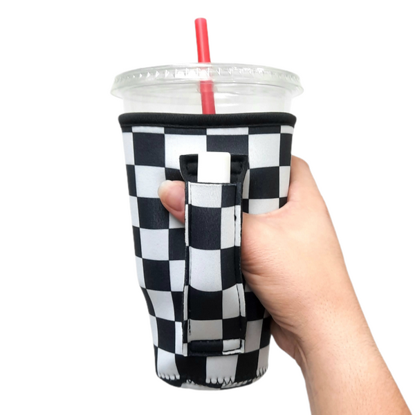 Checkerboard 20-27oz Venti / Large Tea / 27oz Shaker Bottle / 20oz Tumbler Handler™