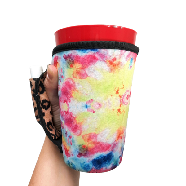 Tie Dye w/ Leopard 16oz Pint Glass / Tumbler / Tea / Grande Coffee / Medium Drinks Handler™