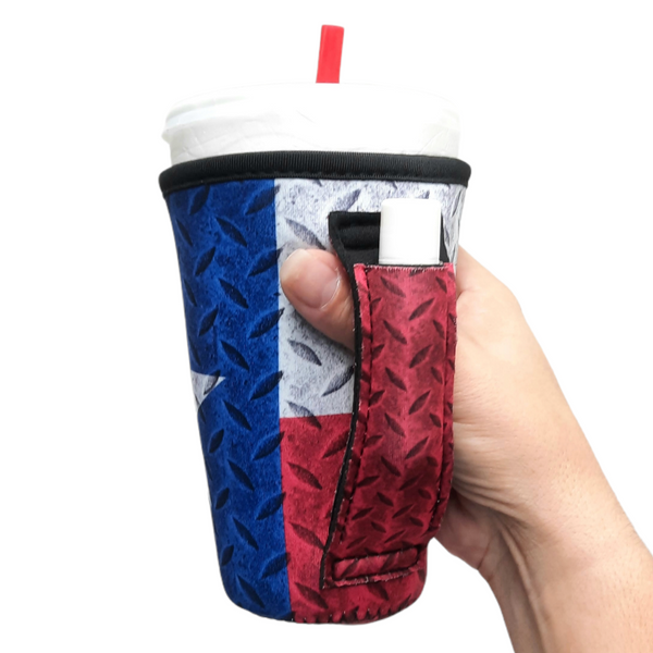 Texas Flag 16oz Pint Glass / Tumbler / Tea / Grande Coffee / Medium Drinks Handler™