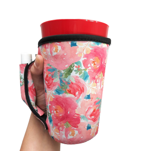 Summer Blooms 16oz Pint Glass / Tumbler / Tea / Grande Coffee / Medium Drinks Handler™