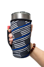 Load image into Gallery viewer, Back The Blue 20-27oz Venti / Large Tea / 28oz Blender / 20oz Tumbler Handlers™