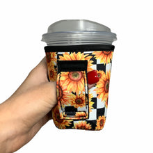 Load image into Gallery viewer, Sunflowers & Checkers 12oz Small/Tall Coffee Handler™