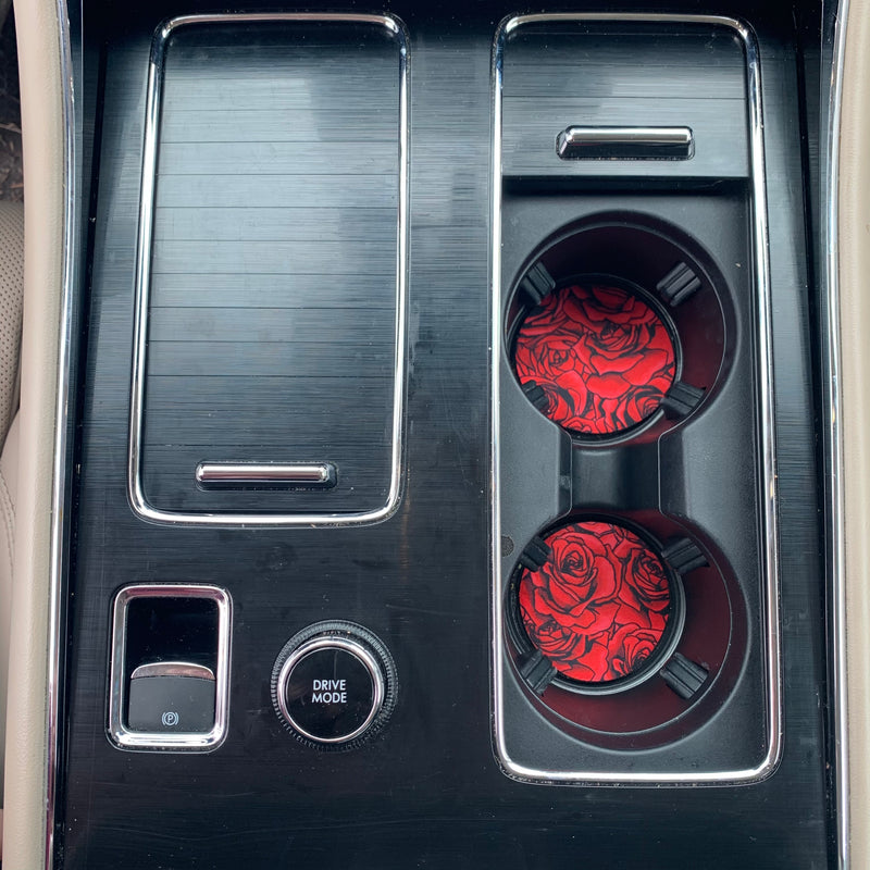 Roses Neoprene Car Coasters - Limited Edition*