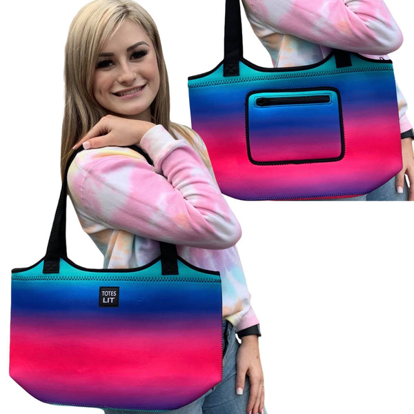 Pink Ombre Neoprene Tote
