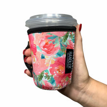 Load image into Gallery viewer, Summer Blooms W/ Leopard Handle 12oz Small/Tall Coffee Handler