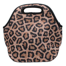 Load image into Gallery viewer, Leopard Lunch Tote
