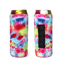 Load image into Gallery viewer, Tie Dye Magnetic 12oz Slim Can Cooler