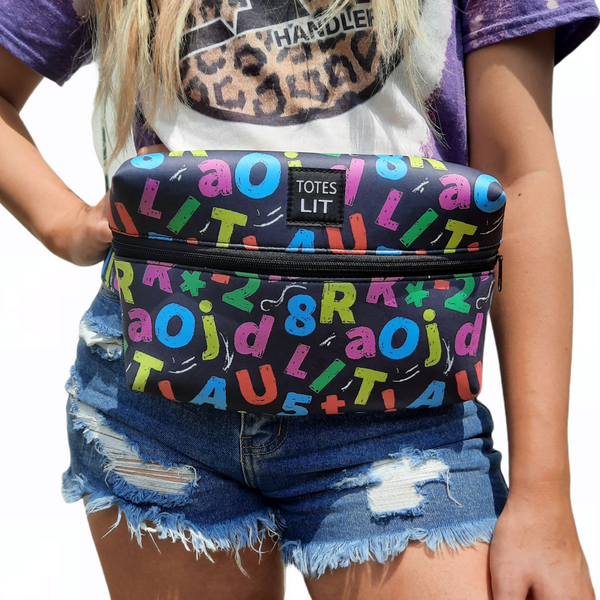 Chalkkboard Letters Fanny Packin' Tote