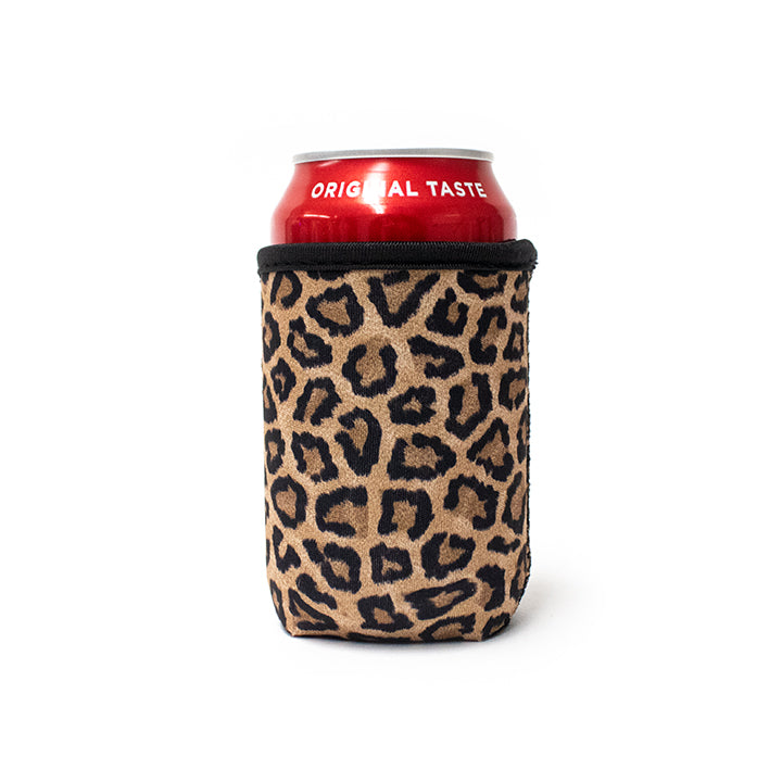 Leopard 12oz Regular Can Cooler