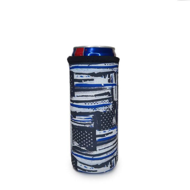 Blue Line 12 OZ Slim can cooler