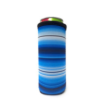 Load image into Gallery viewer, Blue Serape 12 OZ Slim can cooler