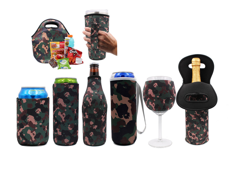Camo Wine Bottle Tote