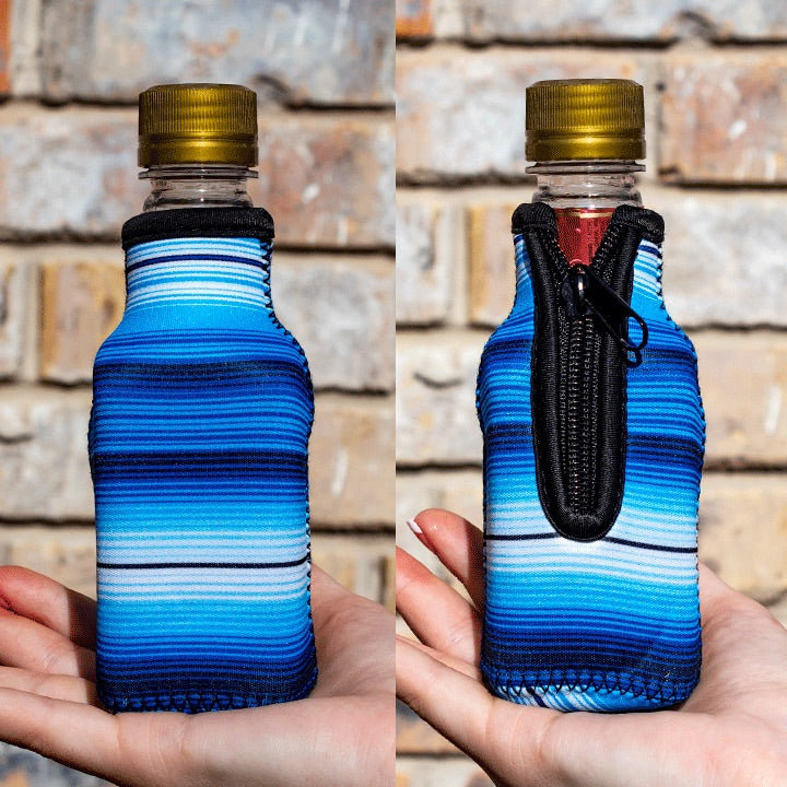 Blue Serape Mini Bottleneck Cooler