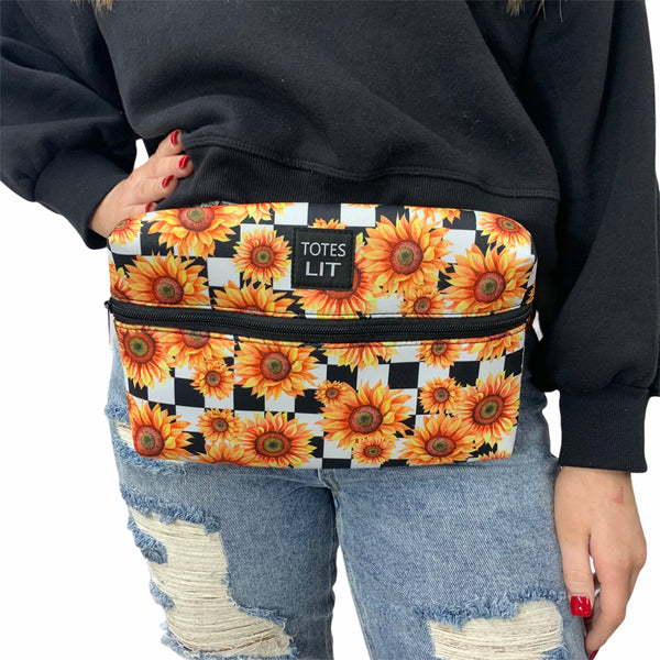 Sunflowers & Checkers Fanny Packin' Tote