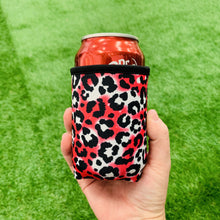 Load image into Gallery viewer, Hot Pink Leopard 12oz Stubby Can Cooler