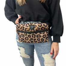 Load image into Gallery viewer, Leopard Fanny Packin' Tote