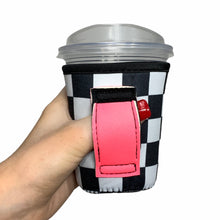 Load image into Gallery viewer, Checkers W/ Neon Pink 12oz Small/Tall Coffee Handler™