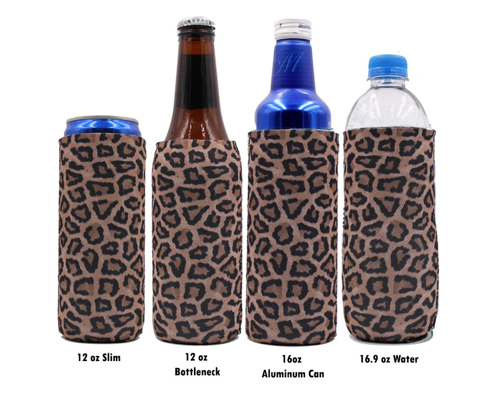 Leopard 12 OZ Slim Can Cooler