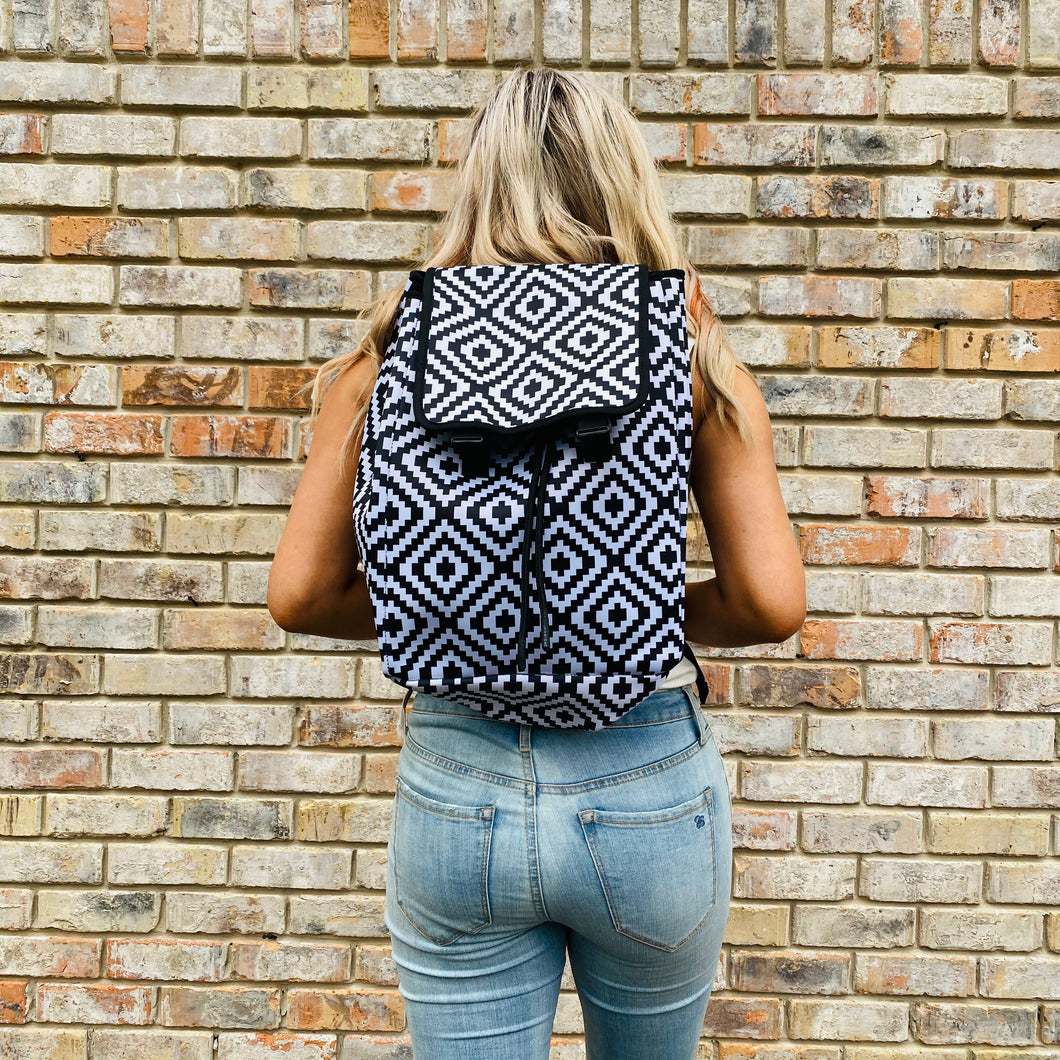 Black & White Aztec Backpack