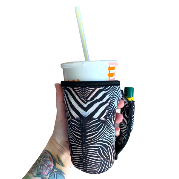 Zebra 16oz Pint Glass / Tumbler / Tea / Grande Coffee / Medium Drinks Handler™