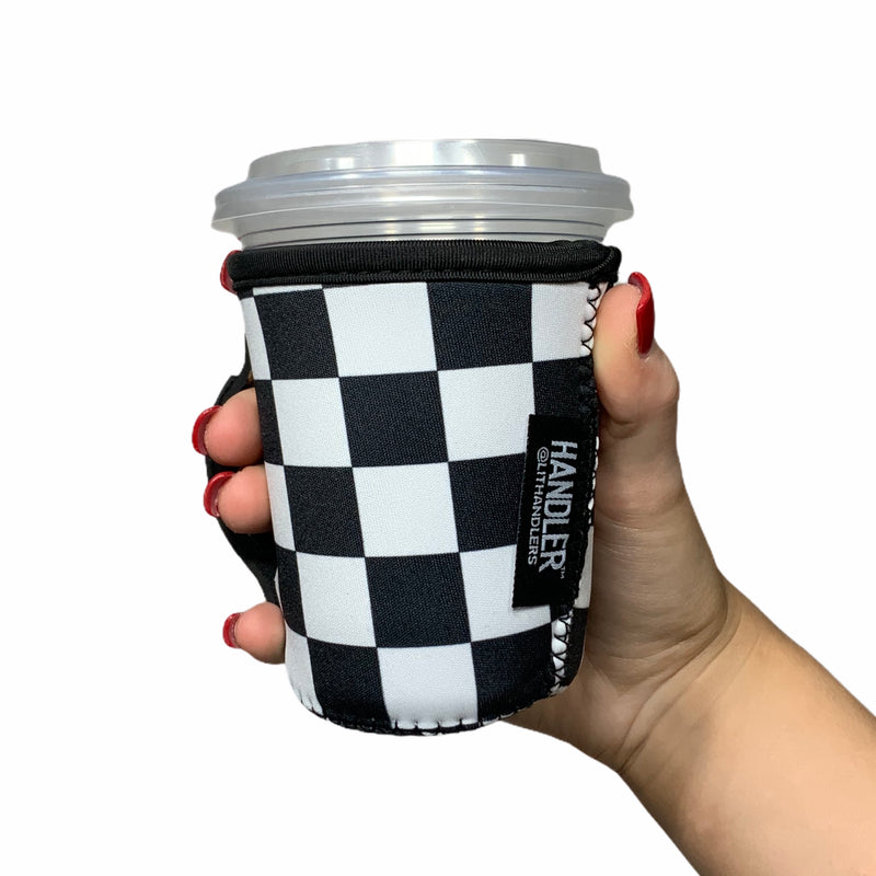 Checkers W/ Leopard 12oz Small/Tall Coffee Handler™