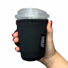 Load image into Gallery viewer, Black W/ Leopard Handle 12oz Small/Tall Coffee Handler