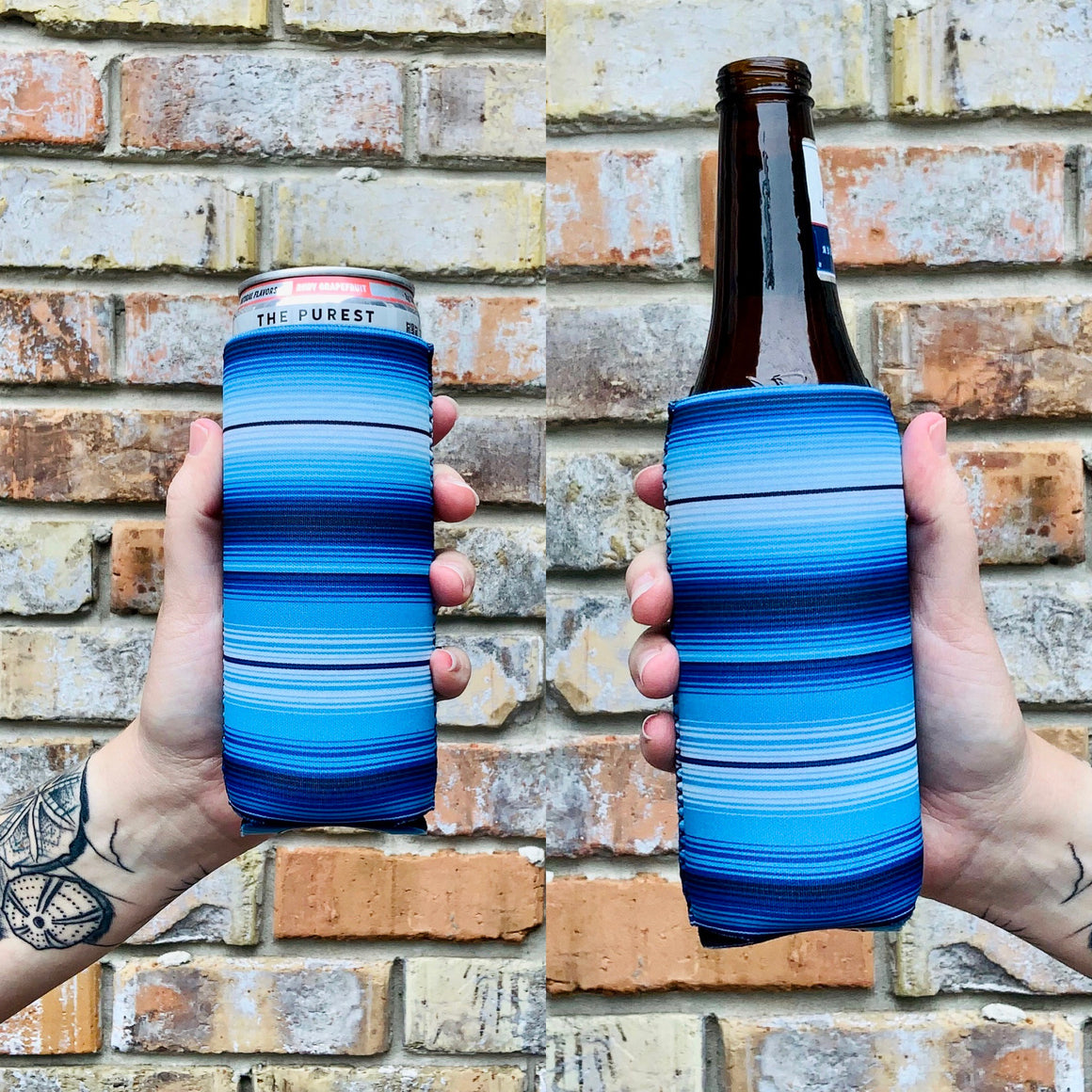 Blue Serape 12 OZ Slim can cooler