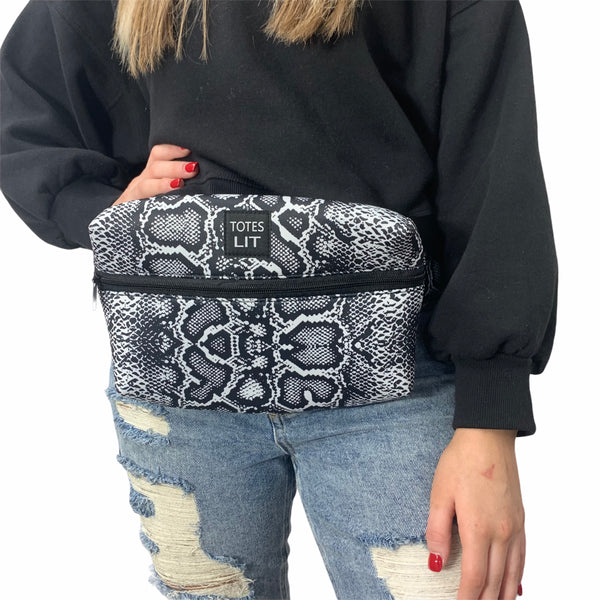 Snakeskin Fanny Packin' Tote