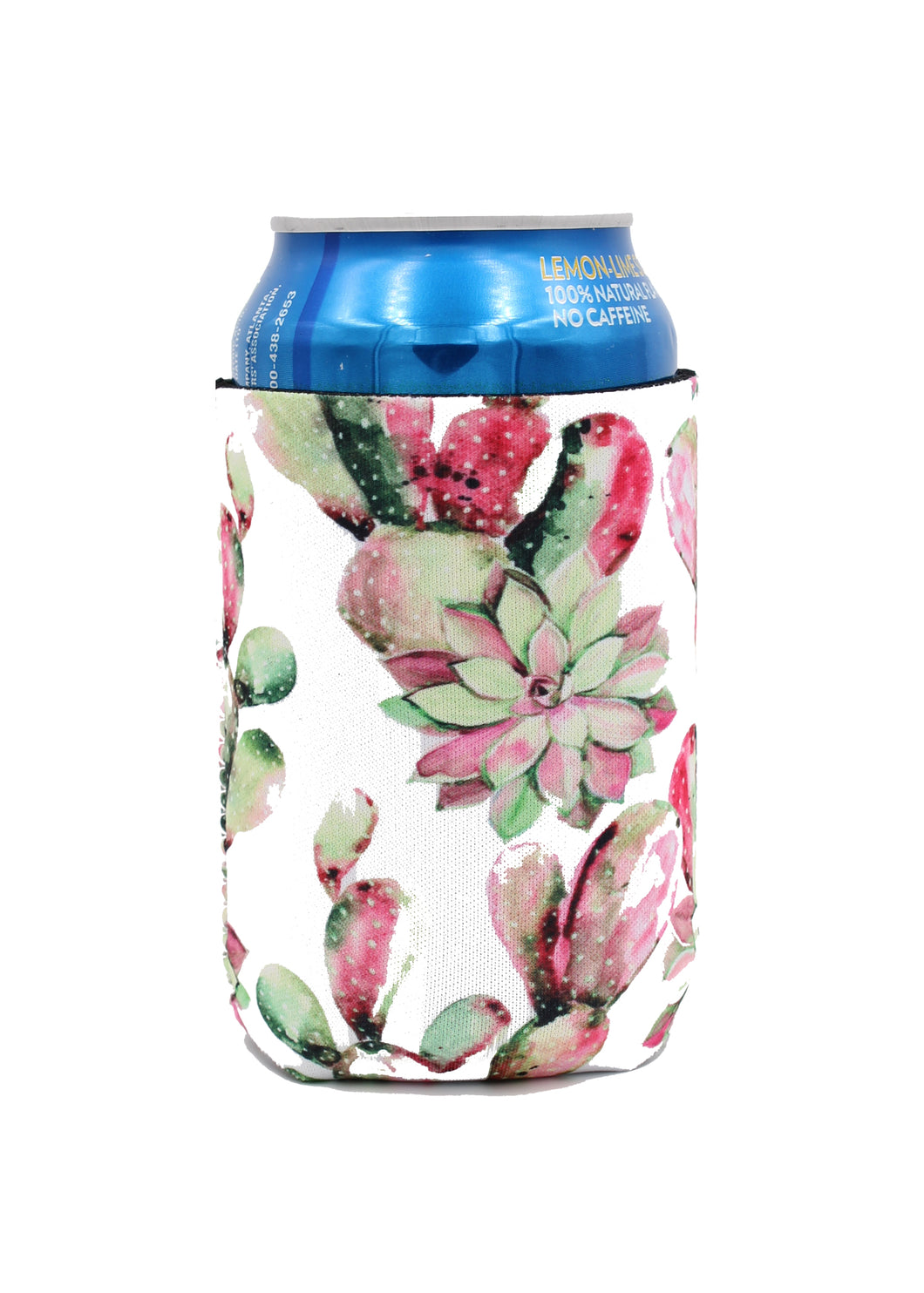 Pink Cacti Can Cooler