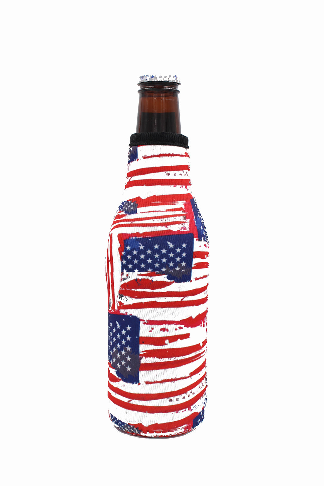 Old Glory Bottle Neck Cooler