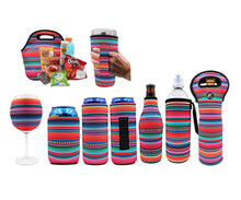 Load image into Gallery viewer, Serape Wine Glass Sleeve