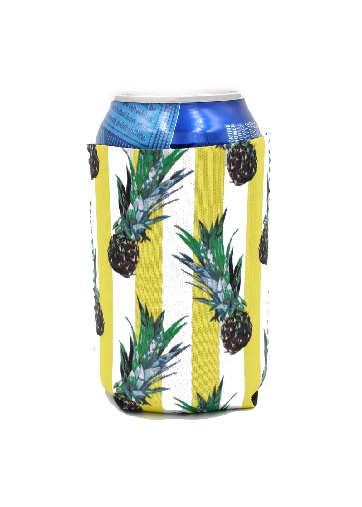 Yellow Pineapple Can Cooler