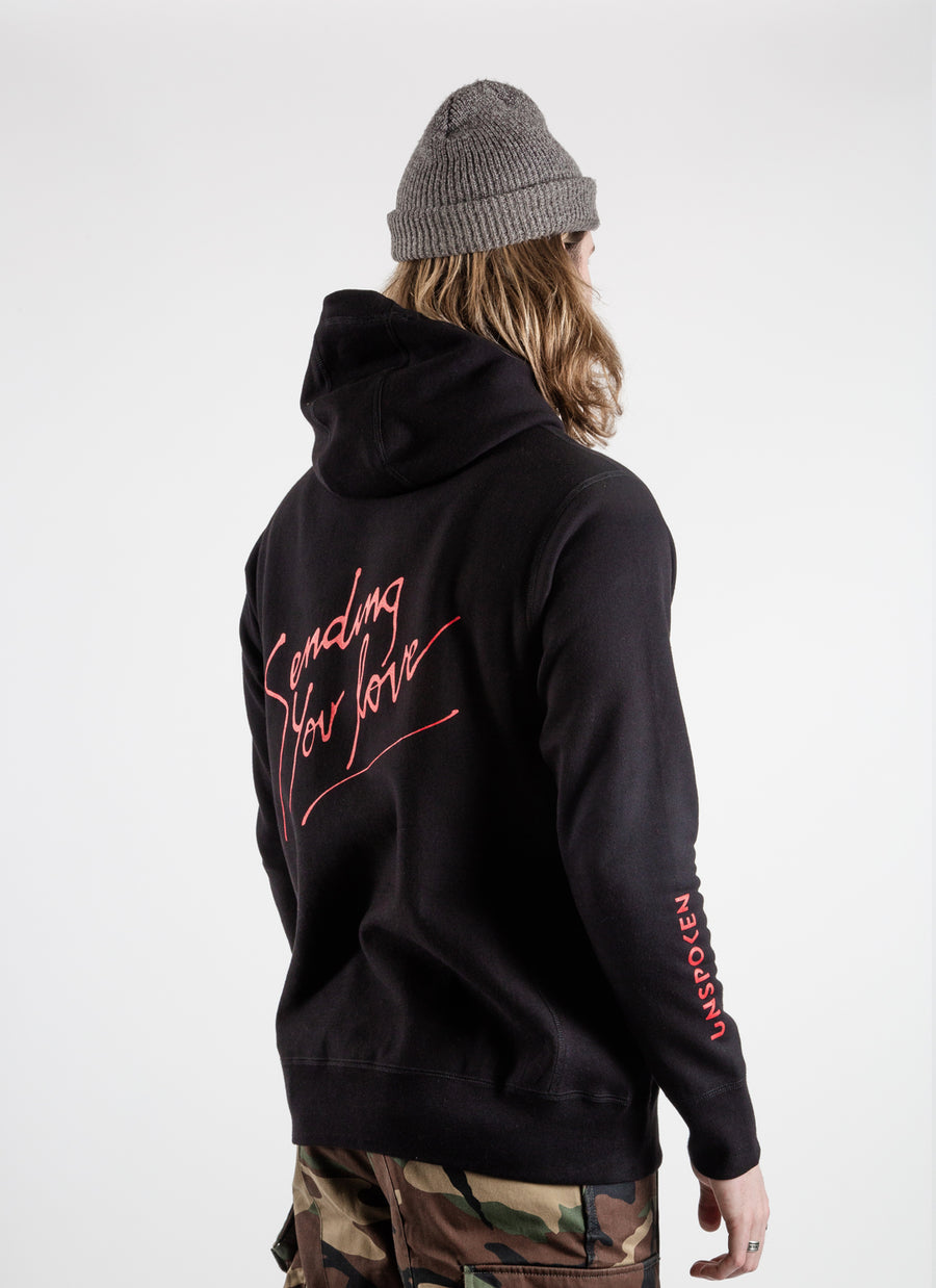 Unspoken x iL.YSM Sending You Love Hoodie - Black