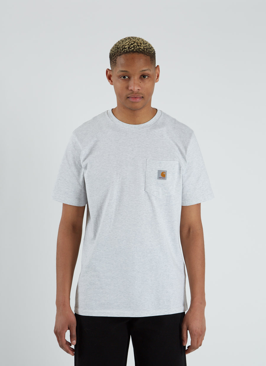 S/S Pocket T-shirt - Ash Heather