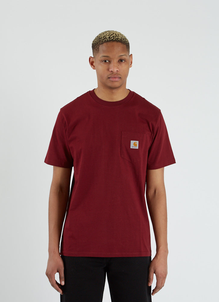 S/S Pocket T-shirt - Cranberry