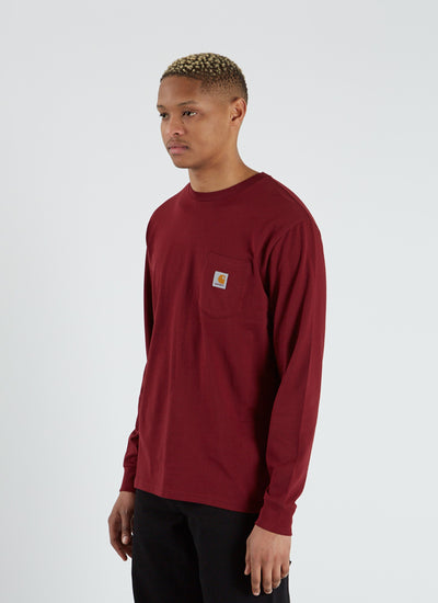 L/S Pocket T-shirt - Cranberry